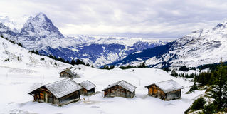 Alps Mountains In Winter Royalty Free Stock Photography