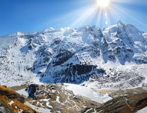 Alps mountains panorama Stock Images