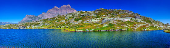 Alps mountains panorama Royalty Free Stock Photo