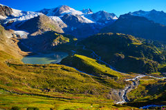 Alps mountains. Swiss Alps mountains summer landscape Stock Photo