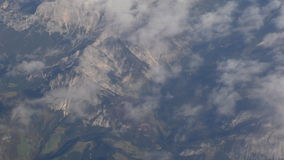 Alps mountains view from airplane stock video