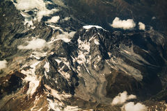 Alps mountains view from the sky Royalty Free Stock Image