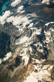 Alps mountains view from the sky Royalty Free Stock Photography