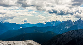 Alps mountains view Royalty Free Stock Image