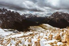 Alps mountains view Royalty Free Stock Photos