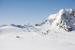 Alps mountains in winter Stock Image