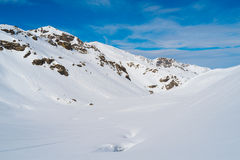 Alps mountains in winter Royalty Free Stock Images