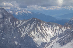 Alps mountains, Zugspitze Royalty Free Stock Images