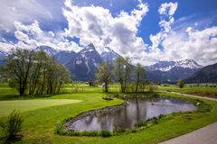 Alps mountains, Zugspitze Royalty Free Stock Image