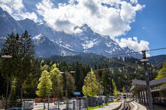 Alps mountains, Zugspitze Royalty Free Stock Photo