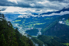 Alps mountins view Royalty Free Stock Photo