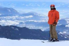 alps narciarka Zdjęcie Stock