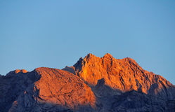 Alps orange Sunset Stock Photo