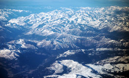 The Alps out of the plane Stock Photos