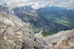 Alps - Outlook from ascent on Watzmann Stock Photography