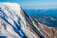 The Alps over Chamonix Royalty Free Stock Photo
