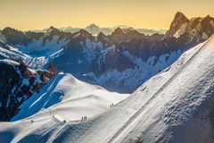 The Alps over Chamonix Royalty Free Stock Images