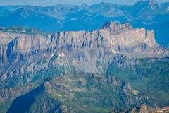 The Alps over Chamonix Royalty Free Stock Photography