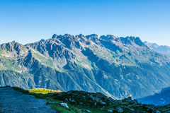The Alps over Chamonix Royalty Free Stock Photography