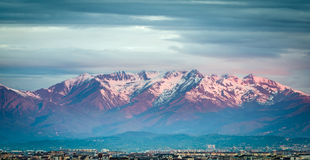 The Alps over Torino Royalty Free Stock Images