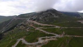 Alps overcast day road stock video
