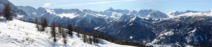 Alps panopama in Italy (Sestriere) Stock Images