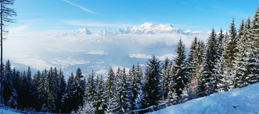 Alps- panorama. Stock Photos