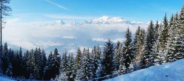 Alps- panorama. Stock Photos