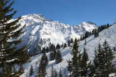 Alps panorama. Wide angle panorama of French Alps Stock Photo