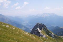 Alps panorama. Panoramic view of Val di Scalve, Bergamo, Italy Stock Photography