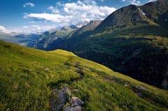 Alps Panorama (Austria). Panorama along the high alpine road Grossglockner Hochalpenstrasse (Austria Royalty Free Stock Photo