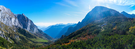 Alps. Panorama in autumn in near the watzmann Stock Photography