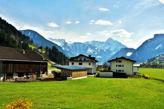Alps panorama Royalty Free Stock Photography