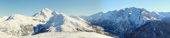 Alps panorama in Sestriere Stock Photos