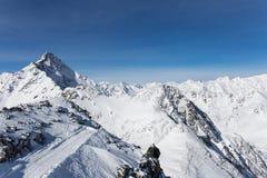 Alps Panorama in Solden, Austria Stock Images