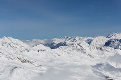 Alps Panorama in Solden, Austria Royalty Free Stock Photos