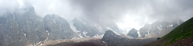 Alps panorama storm Royalty Free Stock Images