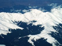 Alps from the plain Stock Photo