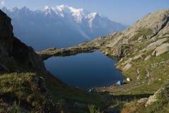 Alps przeglądają od Lacs De Cheserys Obrazy Royalty Free