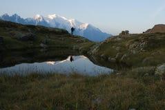 Alps przeglądają od Lacs De Cheserys Fotografia Stock