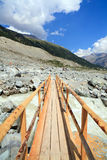 alps przerzucają most lodowa natury szwajcara ślad Zdjęcia Royalty Free