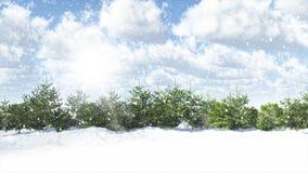 alps räknade trän för vintern för schweizare för snow för husplatsen lilla royaltyfri illustrationer