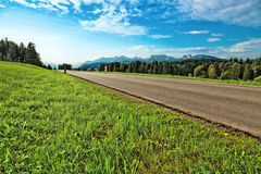 Alps road Royalty Free Stock Images