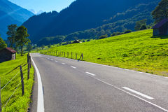 Alps road Stock Images