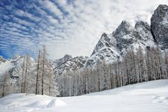 Alps scenery Royalty Free Stock Images