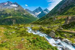 Alps Scenic Landscape Royalty Free Stock Photography