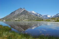 Alps See Lizenzfreies Stockfoto
