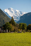 Alps seen from Interlaken Stock Image
