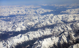The Alps seen from the window of my airplane Stock Image