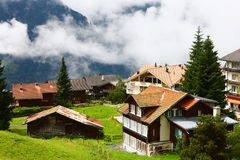 Alps small town. The small town in Alps mountains,Switzerland Royalty Free Stock Photos